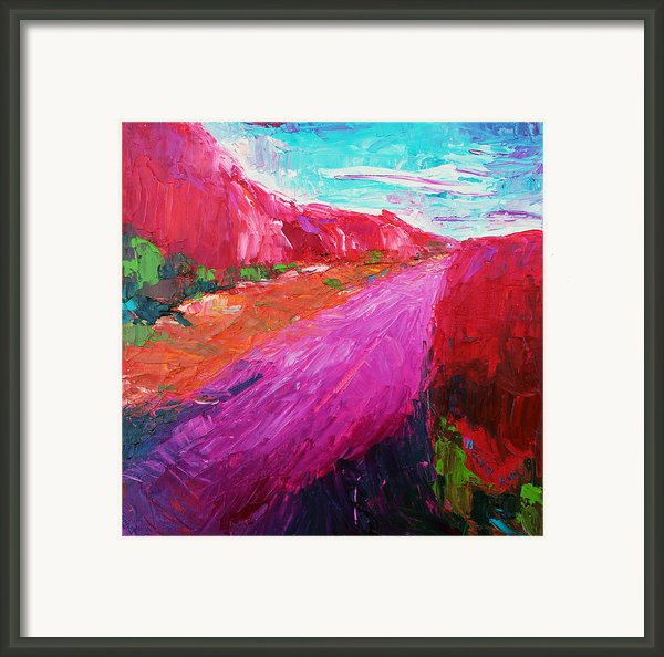 Pink Road 1 Framed Print By Becky Kim