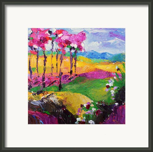 Pink Road 2 Framed Print By Becky Kim