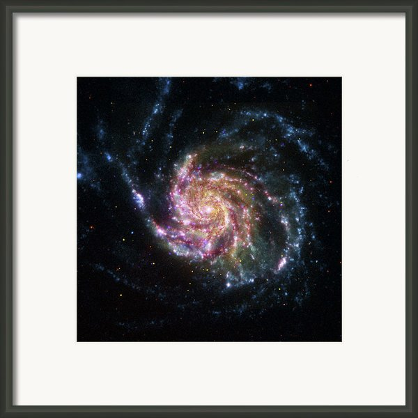 Pinwheel Galaxy Rainbow Framed Print By Adam Romanowicz