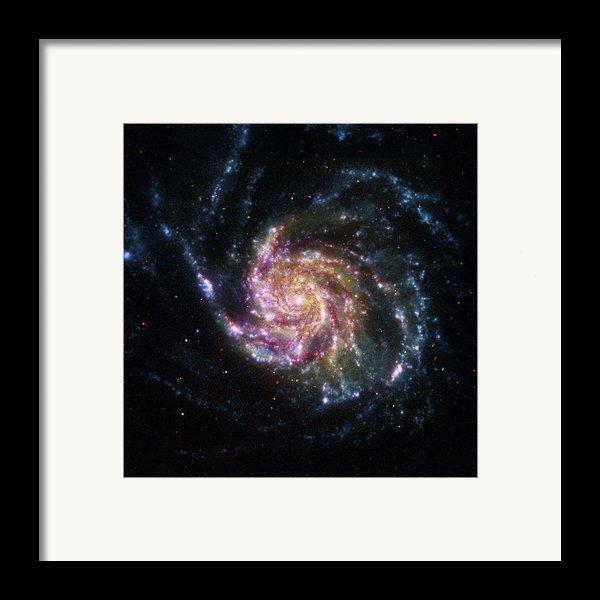 Pinwheel Galaxy Rainbow Framed Print By Adam Romanowicz