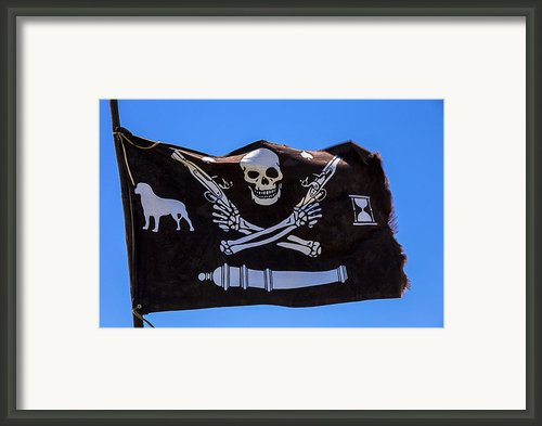 Pirate Flag With Skull And Pistols  Es Framed Print By Garry Gay