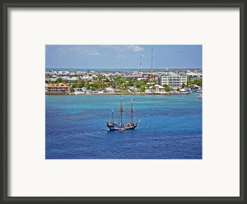 Pirate Ship In Cozumel Framed Print By Aimee L Maher