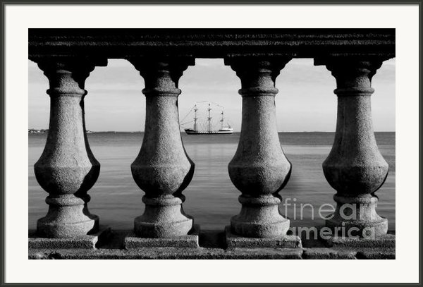 Pirate Ship On The Bayshore Framed Print By David Lee Thompson