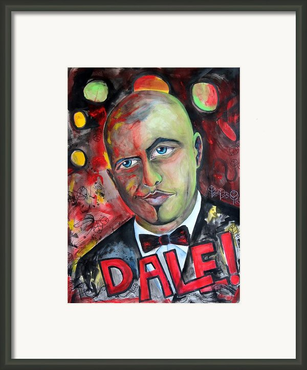 Pitbull - Dale Framed Print By Lorenzo Muriedas
