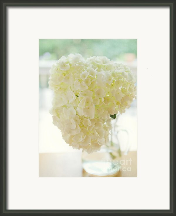 Pitcher Of Hydrangeas Framed Print By Kay Pickens