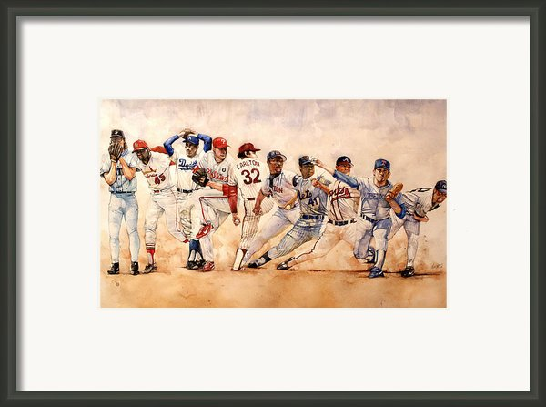 Pitching Windup  Framed Print By Michael  Pattison