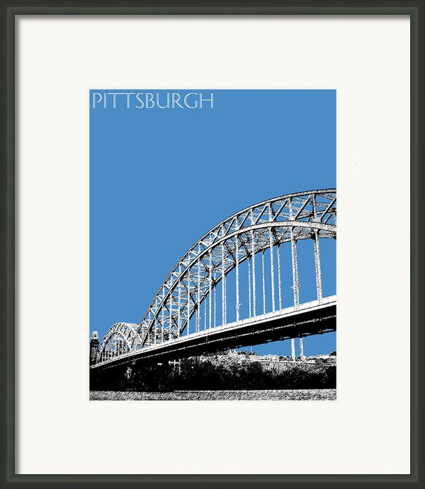 Pittsburgh Skyline 16th St. Bridge - Slate Framed Print By Db Artist