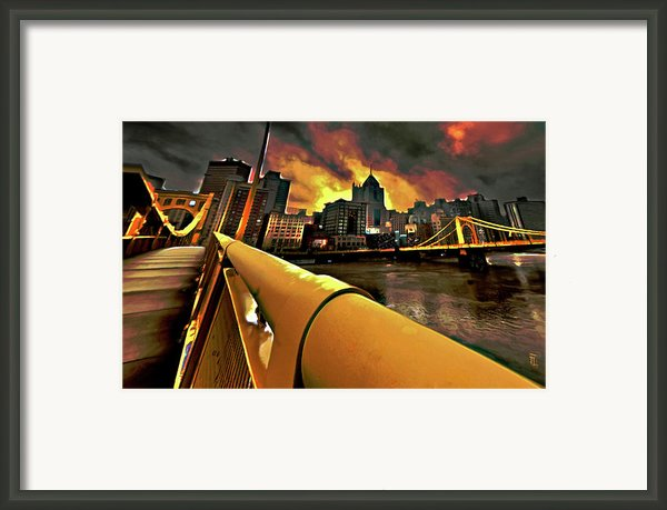 Pittsburgh Skyline Framed Print By Byron Fli Walker