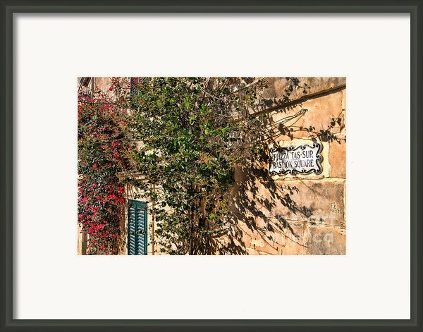 Pjazza In Mdina Framed Print By Alexandra Jordankova