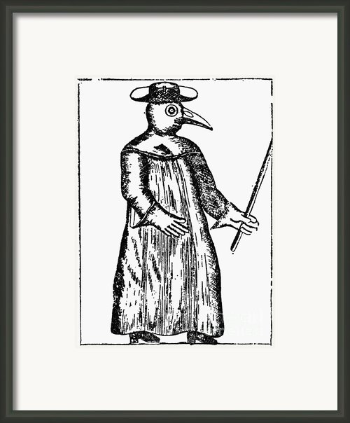 Plague Costume, 1720 Framed Print By Granger