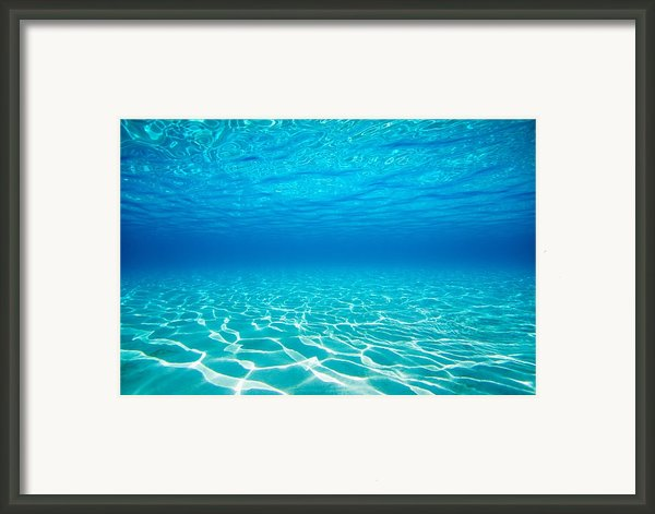 Plain Underwater Shot Framed Print By M Swiet Productions