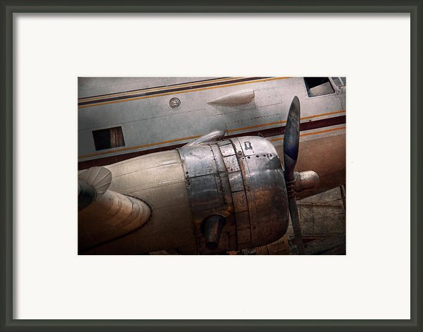 Plane - A Little Rough Around The Edges Framed Print By Mike Savad