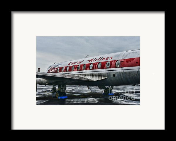 Plane Obsolete Capital Airlines Framed Print By Paul Ward