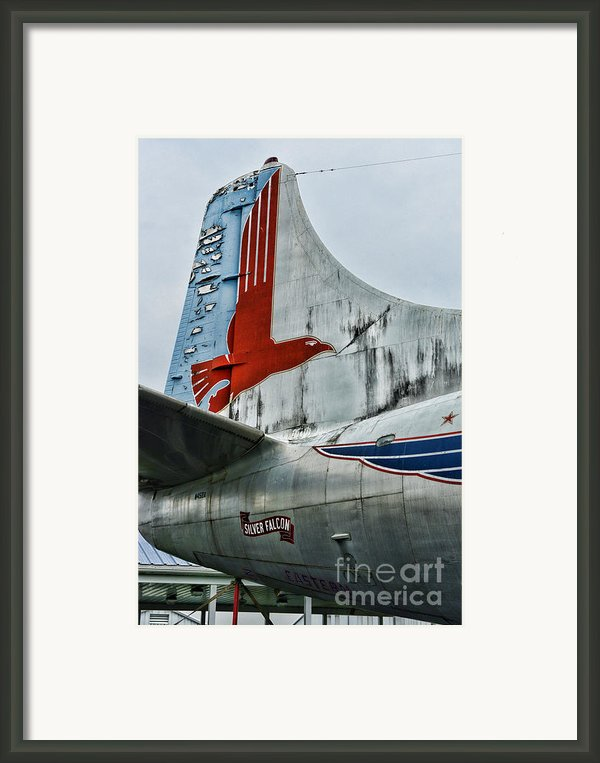 Plane Tail Wing Eastern Air Lines Framed Print By Paul Ward
