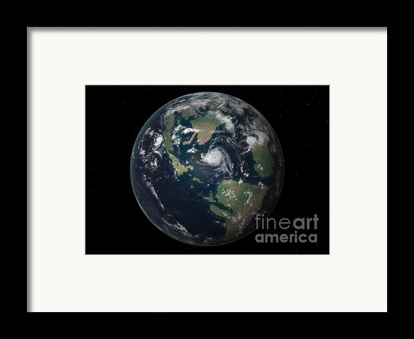 Planet Earth 90 Million Years Ago Framed Print By Walter Myers