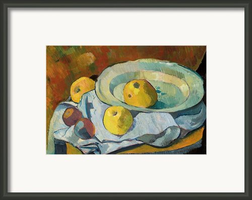 Plate Of Apples Framed Print By Paul Serusier