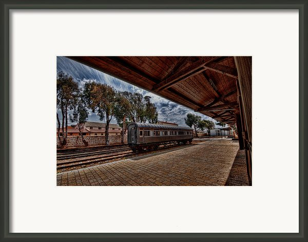 Platform View Of The First Railway Station Of Tel Aviv Framed Print By Ron Shoshani