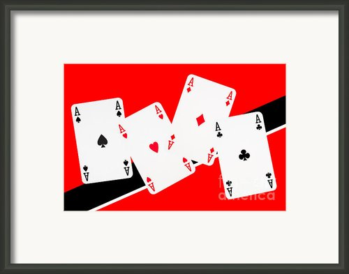 Playing Cards Aces Framed Print By Natalie Kinnear