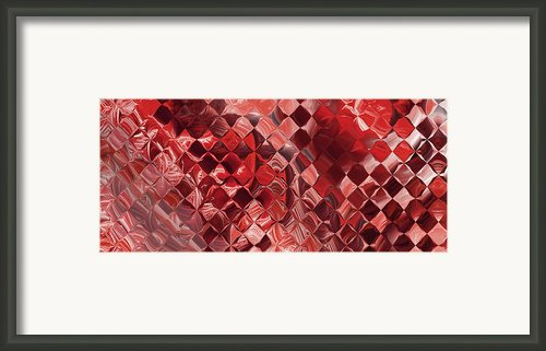 Playing With Squares - Red Framed Print By Andrada Anghel