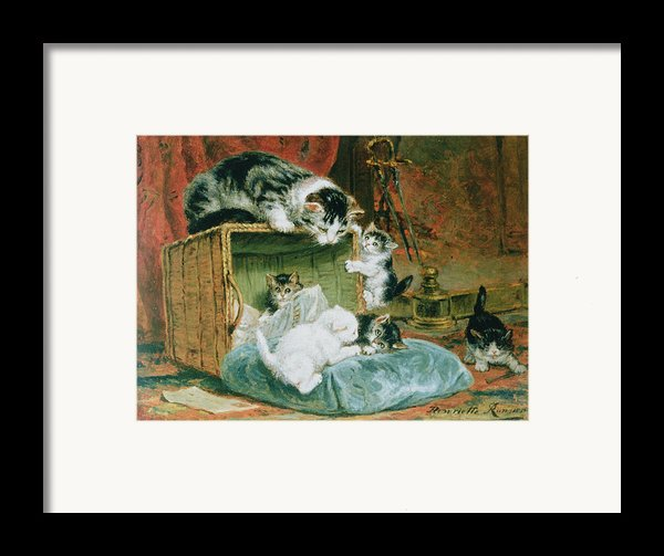 Playtime Framed Print By Henriette Ronner-knip