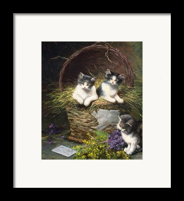 Playtime Framed Print By Leon Charles Huber