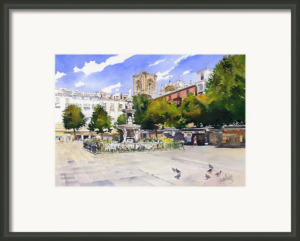 Plaza Bib Rambla Framed Print By Margaret Merry