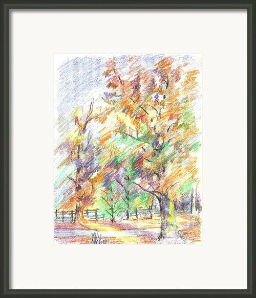 Pleasant Autumn In Brigadoon C104 Framed Print By Kip Devore