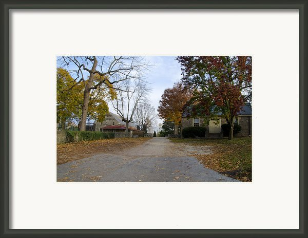 Plymouth Meeting Friends In Autumn Framed Print By Bill Cannon