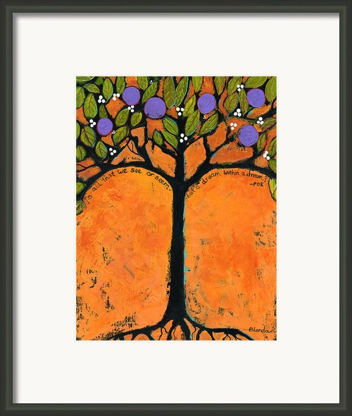 Poe Tree Art Framed Print By Blenda Studio