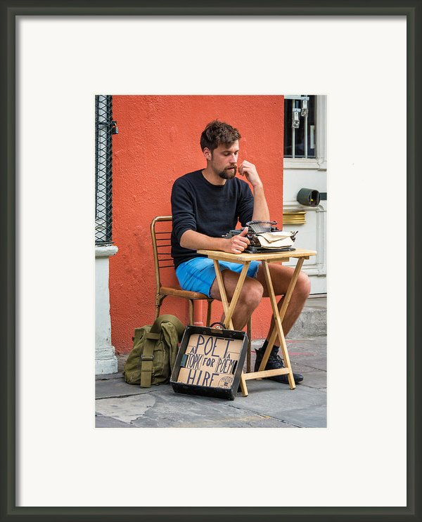 Poet For Hire Framed Print By Steve Harrington