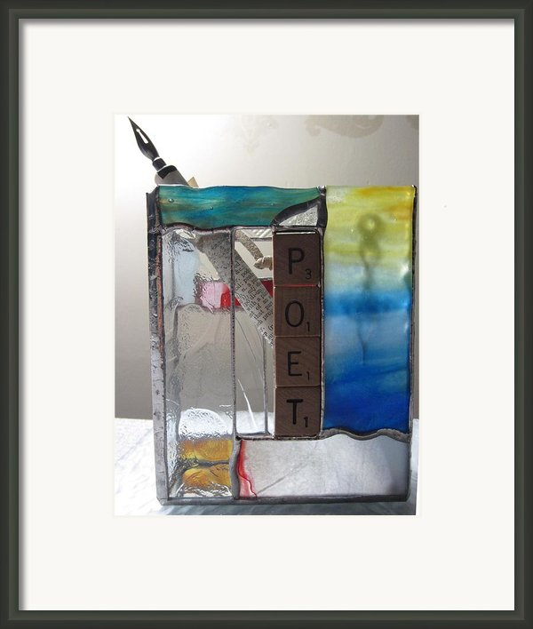 Poet Windowsill Box Framed Print By Karin Thue