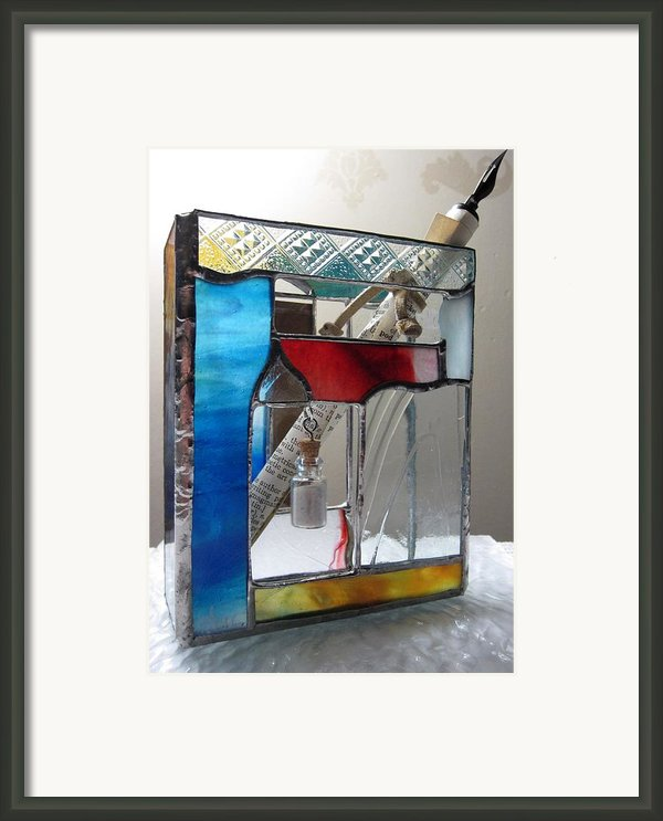 Poet Windowsill Box - Other View Framed Print By Karin Thue