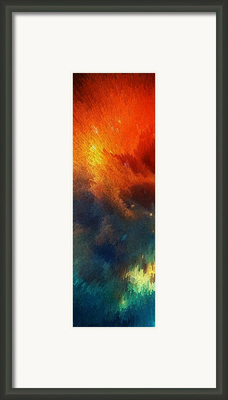 Points Of Light Abstract Art By Sharon Cummings Framed Print By Sharon Cummings