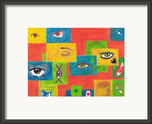Points Of View Framed Print By Luciana Raducanu