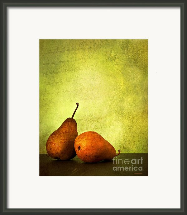Poire Beurre Bosc Framed Print By Theresa Tahara