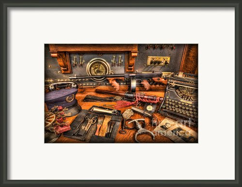Police - Behind The Front Desk Framed Print By Lee Dos Santos
