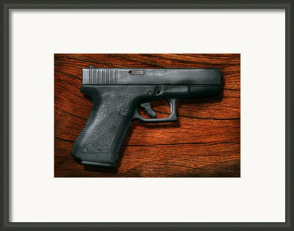 Police - Gun - The Modern Gun  Framed Print By Mike Savad