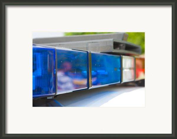 Police Lights Framed Print By Fizzy Image