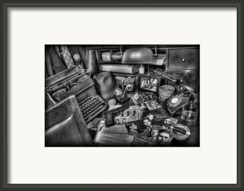 Police Officer - Chasing The American Gangster Ii Framed Print By Lee Dos Santos