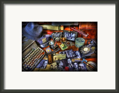 Police Officer - Chasing The American Gangster Framed Print By Lee Dos Santos