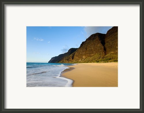 Polihale Beach Framed Print By M Swiet Productions