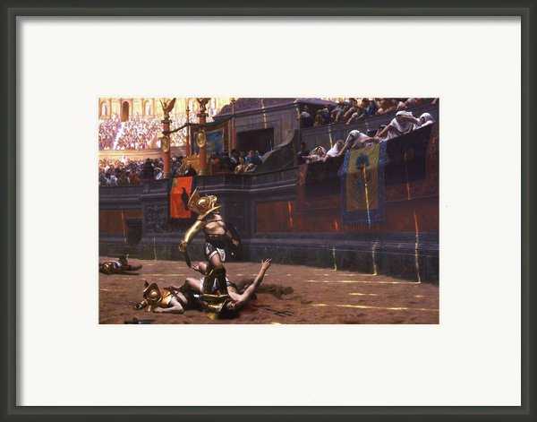 Pollice Verso Framed Print By Pg Reproductions