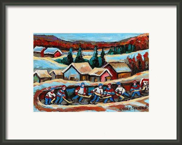 Pond Hockey 2 Framed Print By Carole Spandau