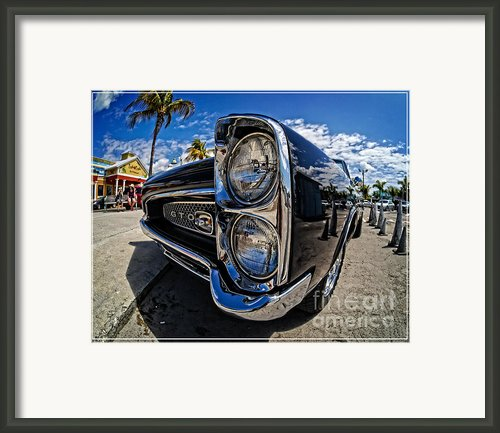 Pontiac Gto Convertible Ft Myers Beach Florida Framed Print By Edward Fielding