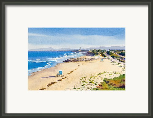 Ponto Beach Carlsbad California Framed Print By Mary Helmreich