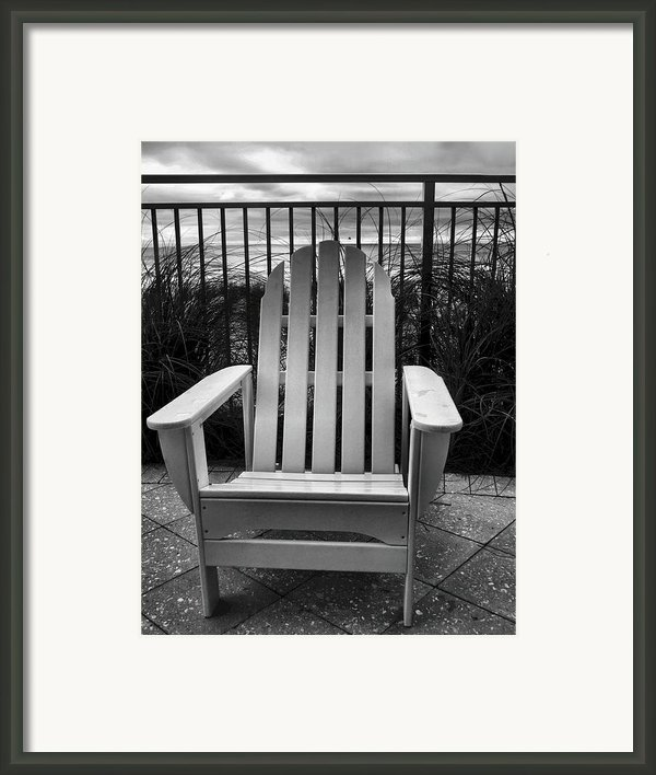 Poolside And Gulfside Framed Print By Julie Dant