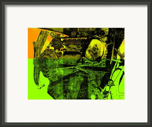 Pop Art Style Machine Gears Framed Print By Ann Powell