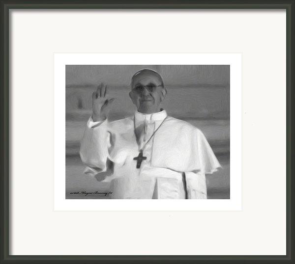 Pope St. Francis I Framed Print By Wayne Bonney