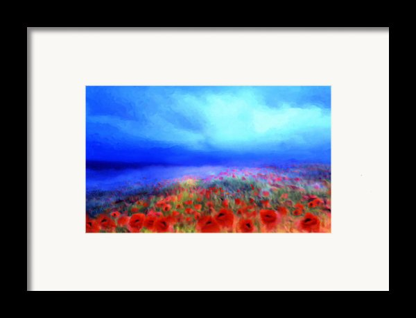 Poppies In The Mist Framed Print By Valerie Anne Kelly