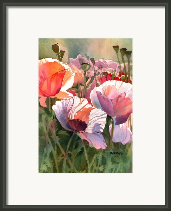 Poppy Madness Framed Print By Kris Parins